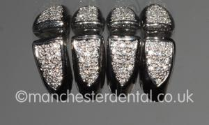white gold crowns   diamonds